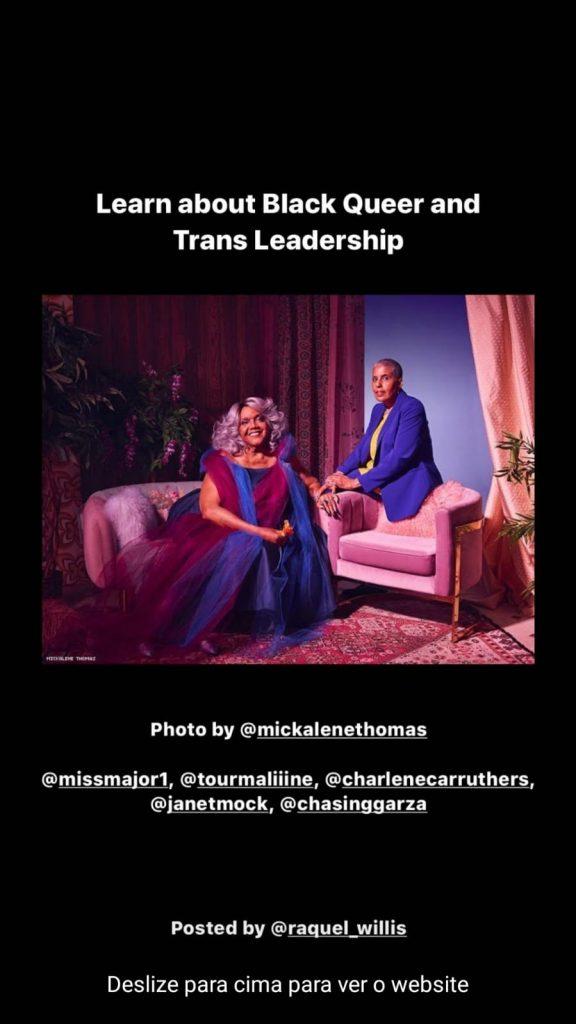 Aprenda sobre a liderança queer e trans preta. Foto por